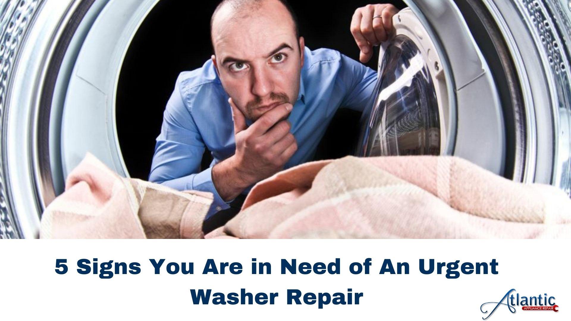 urgent washer repair